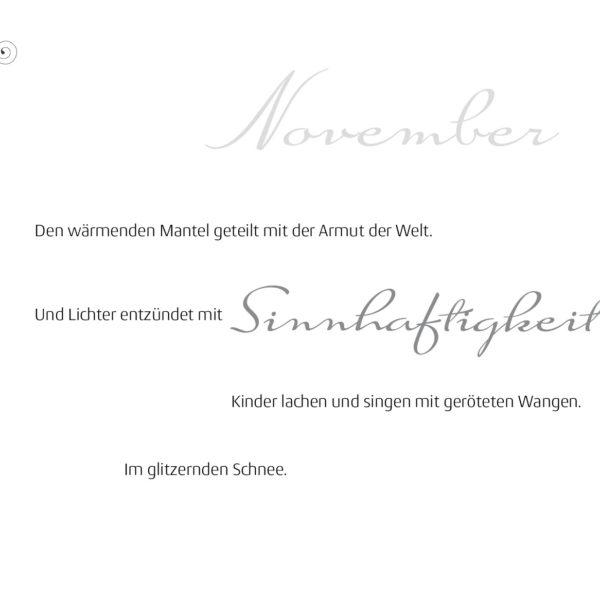 Monate-November-Gedicht